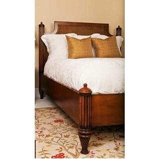 Mahogany Rattan Octagonal Cane California King Bed