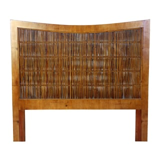 South Seas Brown Bamboo Double Headboard