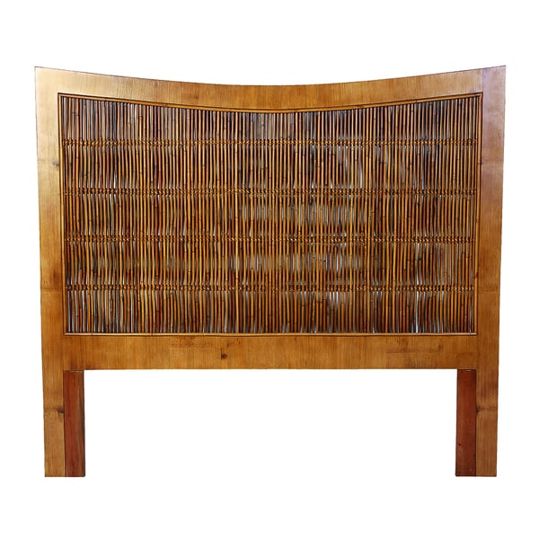 Incroyable South Seas Golden Mahogany Bamboo King Headboard
