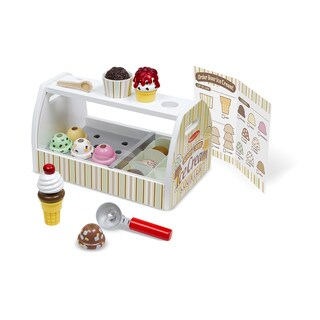 Melissa & Doug Scoop & Serve Ice Cream Counter - White