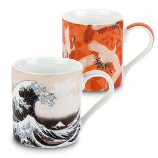 Waechtersbach Japanese Fine Art Porcelain Mugs (Set of 4)