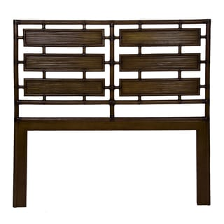Aria Brown Rattan and Bamboo Queen-size Headboard
