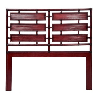 Aria Red Finish Queen Headboard