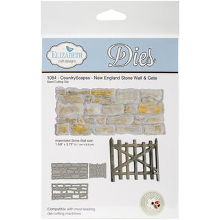 Elizabeth Craft Metal Die Country Scape New England Stonewall/Gate