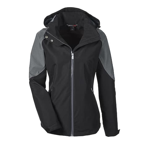 Impulse Women's Black Polyester Carbon 703 Interactive Seam-Sealed Shell Jacket