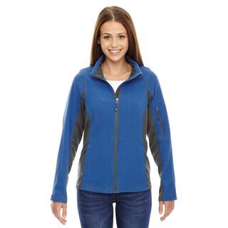 Generate Women's Nautical Blue Textured Fleece Jacket