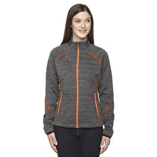 Flux Melange Women's 482 Carbon/Soda Polyester Bonded Fleece Jacket
