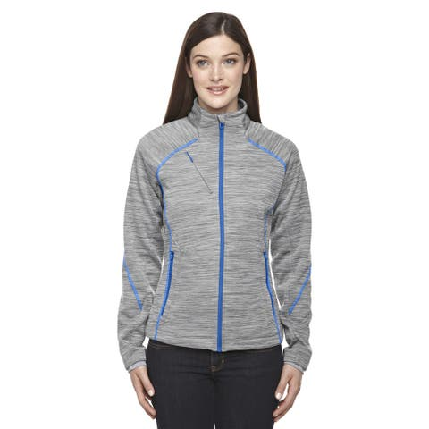 Flux Melange Women's Grey Polyester Bonded Fleece Jacket