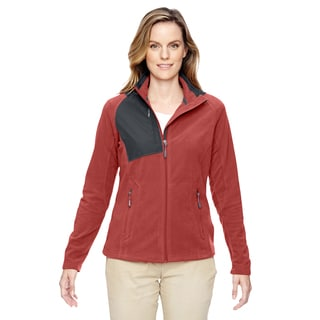 Excursion Women's Red/Black Trail Fabric-Block Fleece Jacket