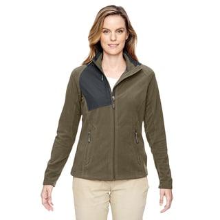 Excursion Women's Oakmoss Fleece Trail Fabric-block Fleece Jacket