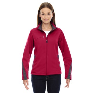 Escape Women's Olympic Red Polyester Bonded Fleece Jacket