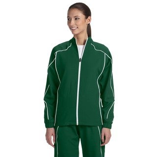 Team Prestige Women's Dark Green/White Polyester Full-zip Jacket
