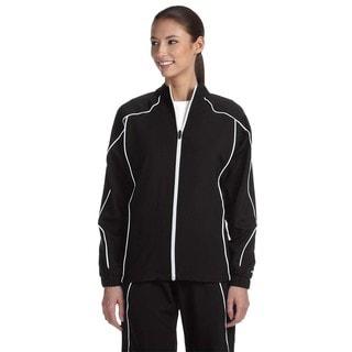 Team Prestige Women's Black/White Polyester Full-zip Jacket