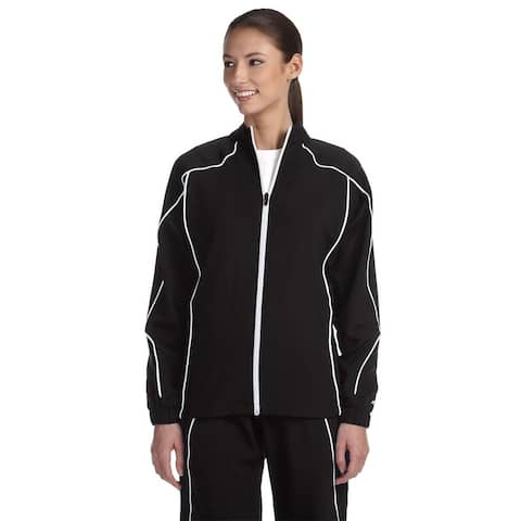 Team Prestige Women's Black/White Polyester Full-zip Jacket