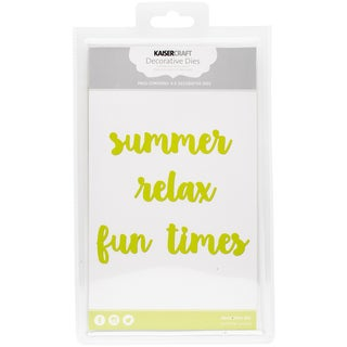 "Kaisercraft Dies Summer, Relax, Fun Times To .75""X4"""