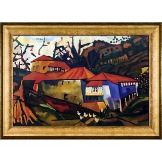 Amadeo Cardoso 'Brook House' Hand Painted Framed Canvas Art