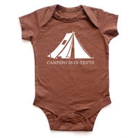 "Rocket Bug ""Camping is In-Tents"" Baby One-piece Bodysuit"