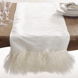 Mongolian Lamb Fur Table Runner