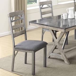 Craftsman Architectural Industrial Designed Dining Chairs (Set of 2)