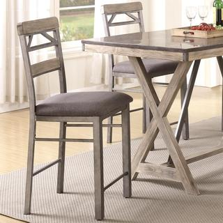 Craftsman Architectural Industrial Designed Counter Height Dining Stools (Set of 2)