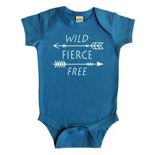 """Rocket Bug """"Wild, Fierce, Free"""" Arrows Baby Bodysuit"""