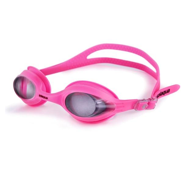 Splaqua Prescription Swim Goggles Pink Strap Tinted Lens ...