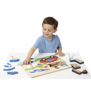 Melissa & Doug Chunky Jigsaw Jumbo Vehicles