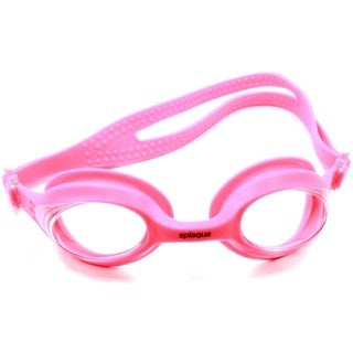 Splaqua Prescription Swim Goggles Pink Strap Clear Lens Anti Fog