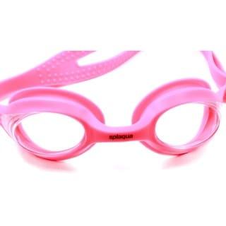 Splaqua Prescription Swim Goggles Pink Strap Clear Lens Anti Fog