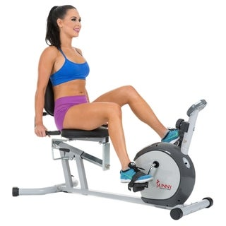 Sunny Health Fitness SF-RB4601 Silver Recumbent Bike