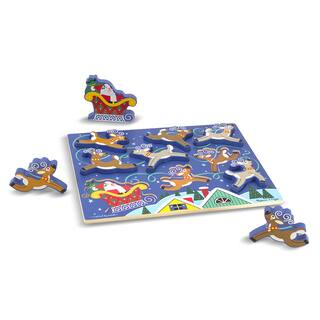 Melissa & Doug Santa & Reindeer Chunky Puzzle|https://ak1.ostkcdn.com/images/products/12142439/P18998092.jpg?impolicy=medium