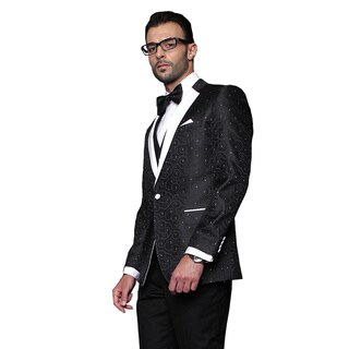 Bellagio Statement Black Wool Tuxedo (Option: 50l)