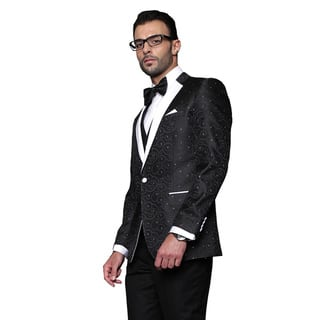 Bellagio Statement Black Wool Tuxedo|https://ak1.ostkcdn.com/images/products/12142527/P18998097.jpg?impolicy=medium