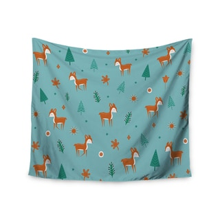Kess InHouse Cristina Bianco Design 'Cute Deer Pattern' 51x60-inch Wall Tapestry