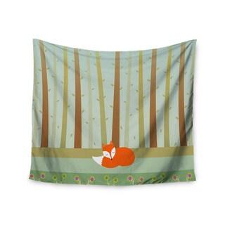 Kess InHouse Cristina Bianco Design 'Sleeping Fox' 51x60-inch Wall Tapestry