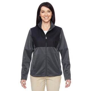 Women's Dark Charcoal Polyester Task Performance Full-zip Jacket
