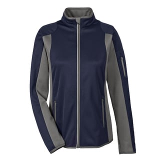 Motion Women's Colorblock Performance Fleece Jacket Navy/Dark Graphite 007