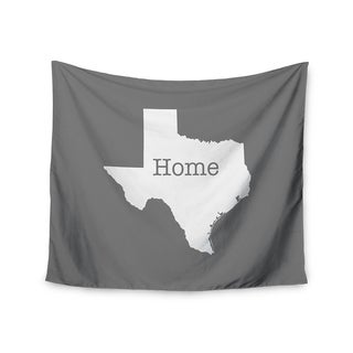 Kess InHouse Bruce Stanfield 'Texas Is Home' White Gray51x60-inch Wall Tapestry