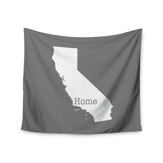"""Kess InHouse Bruce Stanfield """"California Is Home"""" Gray White Wall Tapestry 51'' x 60''"""