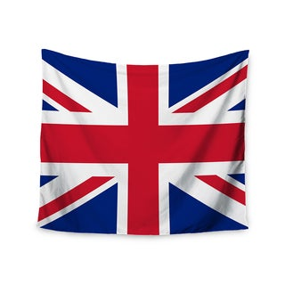 """Kess InHouse Bruce Stanfield """"Classic Union Jack"""" Blue Red Wall Tapestry 51'' x 60''"""