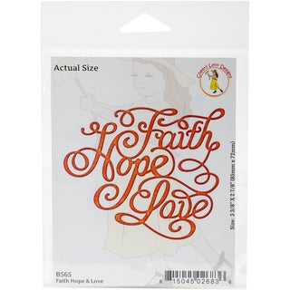 "Cheery Lynn Designs Die Faith Hope And Love, 3.375""X2.875"""