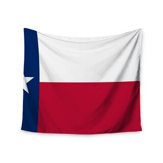 Kess InHouse Bruce Stanfield 'Flag of Texas' Blue Red 51x60-inch Wall Tapestry