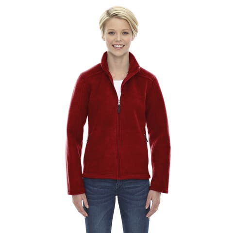 Journey Women's 850 Classic Red Polyester Fleece Jacket