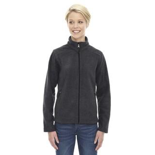 Journey Women's Heathered Charcoal Grey Fleece Jacket