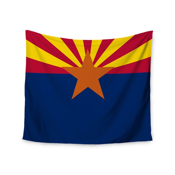 """Kess InHouse Bruce Stanfield """"Flag Of Arizona"""" Red Blue Wall Tapestry 51'' x 60''"""