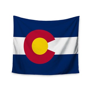"""Kess InHouse Bruce Stanfield """"Flag of Colorado II"""" Blue Red Wall Tapestry 51'' x 60''"""
