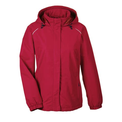 Profile Women's 850 Classic Red Polyester Fleece Lined All-season Jacket