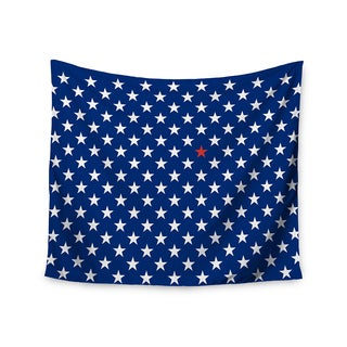 """Kess InHouse Bruce Stanfield """"Red Star"""" Blue Wall Tapestry 51'' x 60''"""