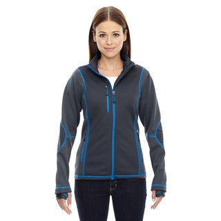 Pulse Women's Grey Polyester Fleece Jacket