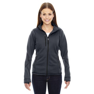 Pulse Women's 456 Carbon Polyester Printed Textured Bonded Fleece Jacket